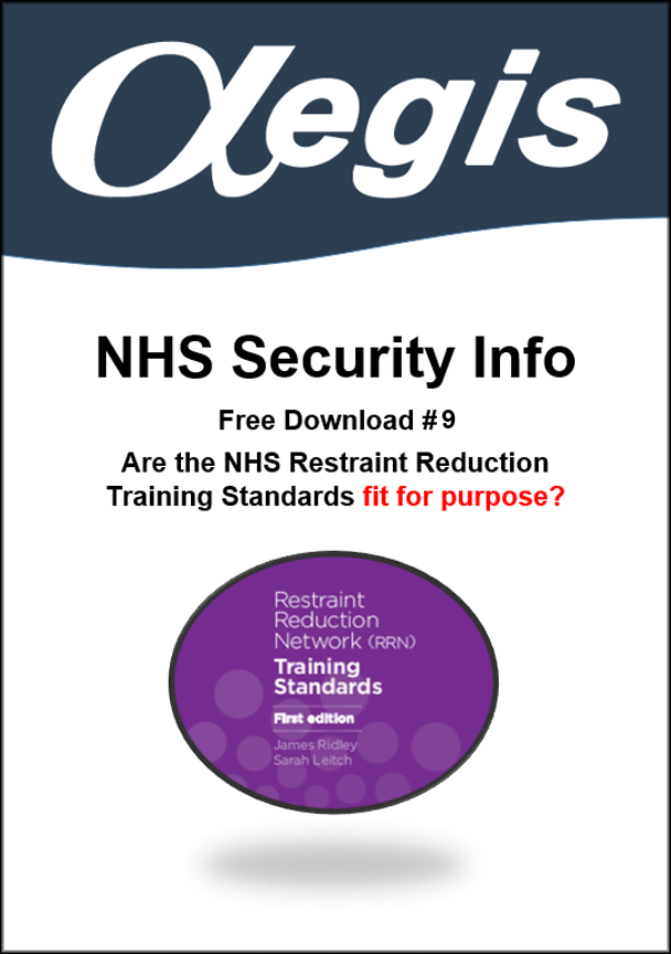 Image shows front cover of NHS-Security-Info-Free-download-#9-AEGIS-Protective-Services.pdf
